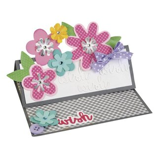 Sizzix Thinlits Set- Flower Layers&Leaf