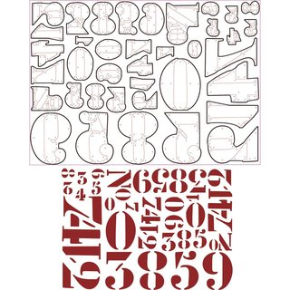 Sizzix Thinlits Set- Stencil Numbers