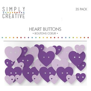 Plastic Buttons- Hearts