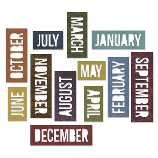Sizzix Thinlits Set-Calendar Words Block