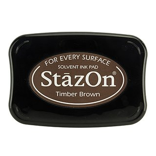 Stempelkissen StazOn Timber Brown