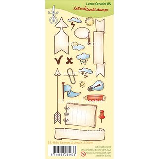 Clear-Stamps Set Banners, arrows & icons