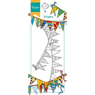 Clear-Stamp Hettys border garlands