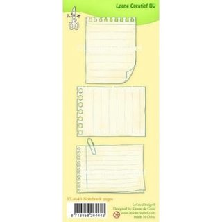 Clear-Stamps Set Notebook pages