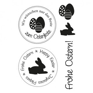 Stempel Clear, Ostern, A7 / 74 x 105 mm, 5 - teilig, transparent