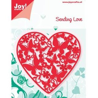 Joy!Crafts Stanz- und Prägeschablone Sending Love