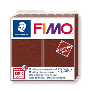 FIMO Leather Effect - Nuss