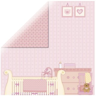 Scrapbookingpapier Sweet Baby Girl-Room