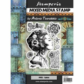 Stamperia Stempel Rubber Stamp Sea World Lady