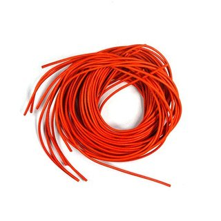 Lederband 1 Meter 1,2 mm orange