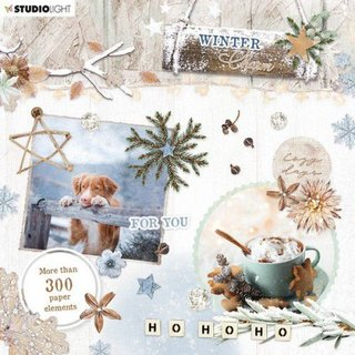 Die Cut Book Winter Charm Nr. 665 15 x15 cm
