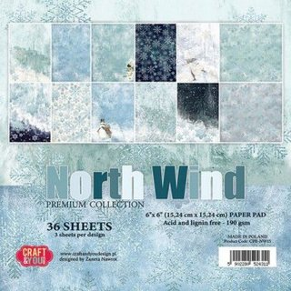 North Wind  6x6 (15,24 x 15,24 cm) Weihnachten/Winter