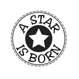 Stempel  A Star is born , 3cm ø