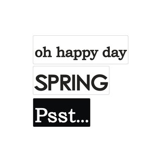 Labels GB Psst + Spring + oh happy day