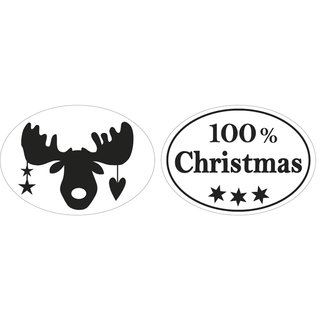 Labels  100% Christmas +Elch